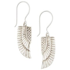 Egyptian Sterling Silver Goddess Isis Wing Earrings