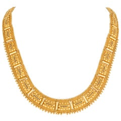 Egyptian-Style Gold Collar Necklace