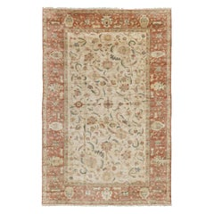 Egyptian Sultanabad Design Revival Rug