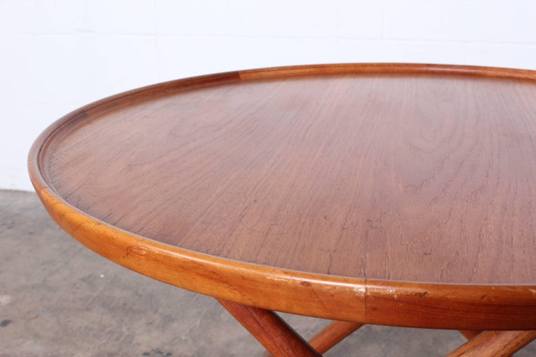 Egyptian Table by Mogens Lassen for A.J. Iversen In Good Condition For Sale In Dallas, TX