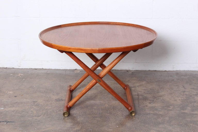 Teak Egyptian Table by Mogens Lassen for A.J. Iversen For Sale