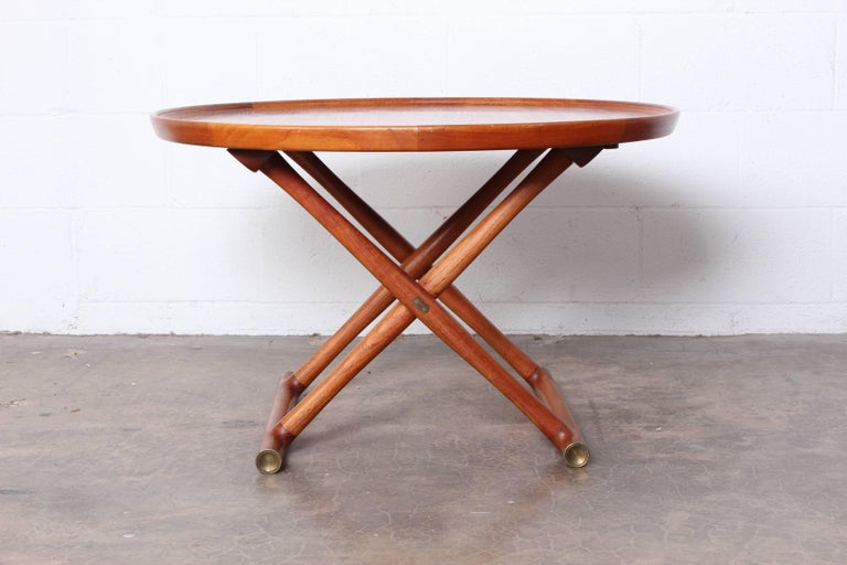 Egyptian Table by Mogens Lassen for A.J. Iversen For Sale 1