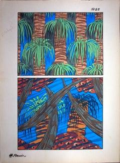 Art Deco : Red Sea Coral Reef, 1926 - Original Lithograph