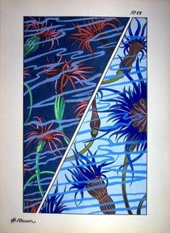 Art Deco : Underwater Flowers, 1926 - Original Lithograph