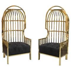 Eichholtz Bora Bora Birdcage Chairs, Gold
