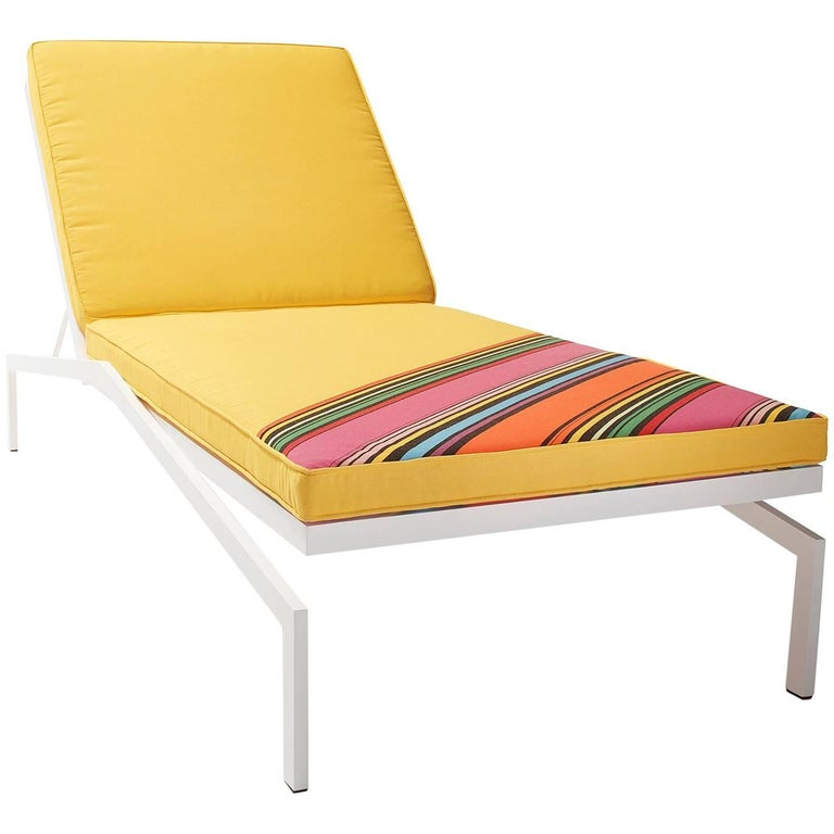 Eichler Outdoor Lounge Chair With Sunbrella Cushion 2018 By Post And