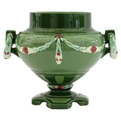 Eichwald Secessionist Majolica Art Pottery Urn Shaped Vase, 1910