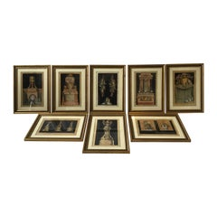 Eight 1770s Jean Charles Delafosse Baroque Architectural and Trophy Prints