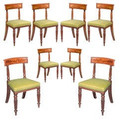 Eight 19th Century Regency Dining Chairs, circa 1815