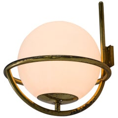 Eight Patinated Solid Brass Wall Lights
