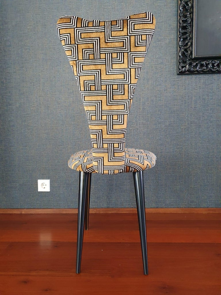 Eight '8' Mid-Century Modern Black Lacquered Legs by Umberto Mascagni, 1950s For Sale 4