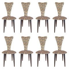 Eight '8' Mid-Century Modern Black Lacquered Legs by Umberto Mascagni, 1950s