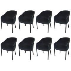 Eight All Black Ward Bennett for Brickell Associates Armchairs