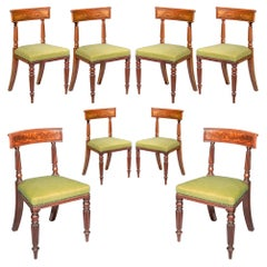 Eight Antique Regency Dining Chairs, Early 19th Century Design of George Bullock