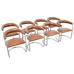 Eight Anton Lorenz for Thonet Dining Chairs