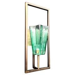 Eight Architectural Emerald Green Sconces by Fabio Ltd