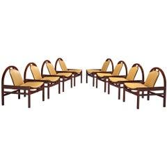 Eight 'Argo' Lounge Chairs by Baumann