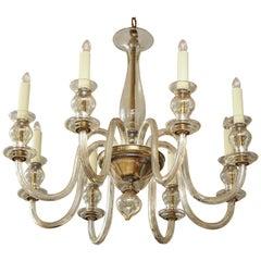 Eight-Arm Murano Glass Chandelier
