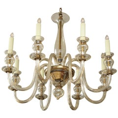 Eight-Arm Murano Glass Chandelier