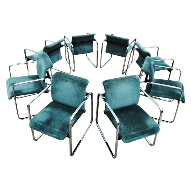 Eight Armchairs Designed by Peter Protzman and Alexander Girard for Herman