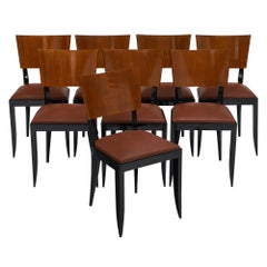 Eight Art Deco Period Dining Chairs
