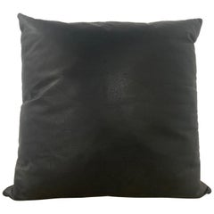 Eight Black Leather Down Pillows by Joe D'Urso for Knoll International