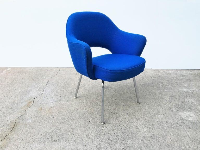 Mid-Century Modern Eight Blue Eero Saarinen for Knoll Executive Chairs For Sale