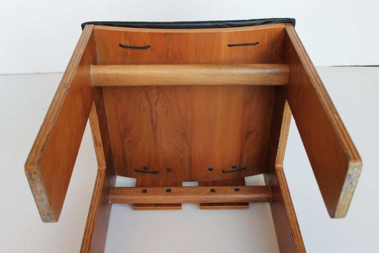 Mid-Century Carlo Scarpa Natural Walnut Italian Chairs Mod 1934-765 Bernini 1977 For Sale 6