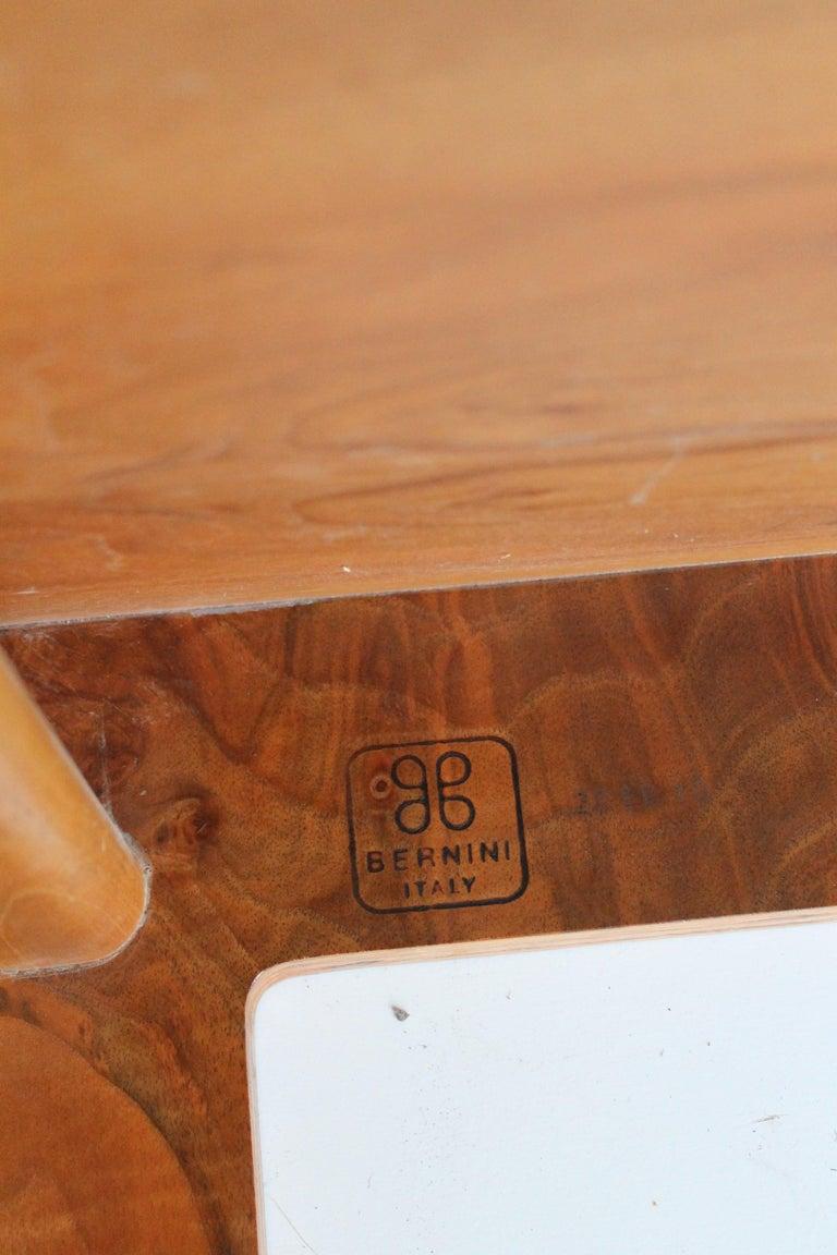 Eight Carlo Scarpa Walnut Chairs Mod 1934/765 for Bernini, 1977 For Sale 7