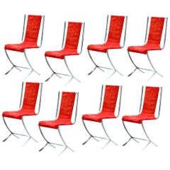 Eight Chairs by Pierre Cardin for Maison Jansen, 1970s