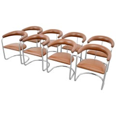 Eight Classic Anton Lorenz for Thonet Dining Chairs