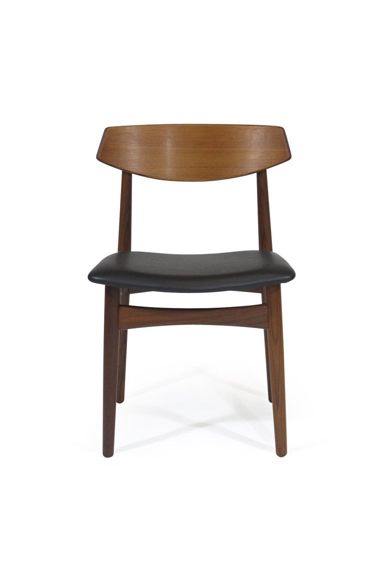 Oiled Eight Danish Teak Dining Chairs For Sale