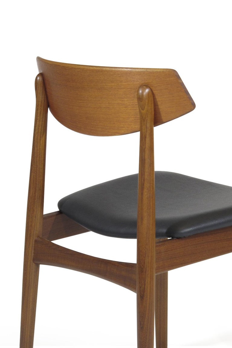 Eight Danish Teak Dining Chairs For Sale 1