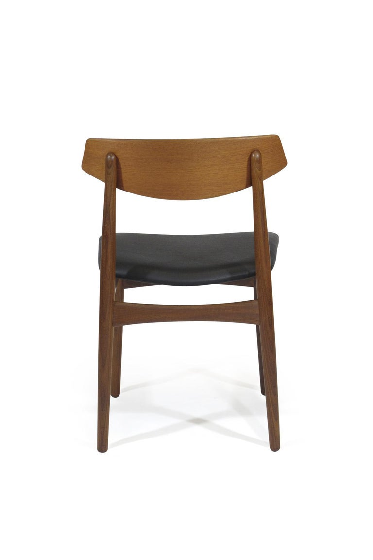 Eight Danish Teak Dining Chairs For Sale 2