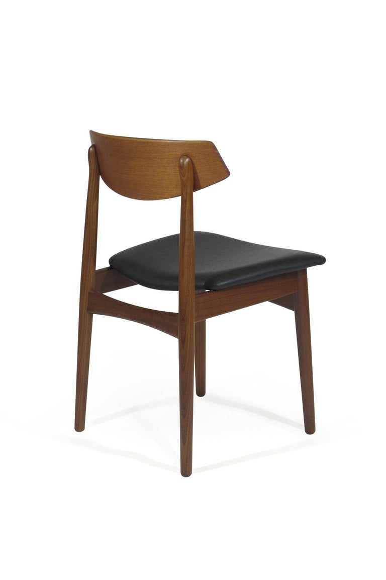 Eight Danish Teak Dining Chairs For Sale 3