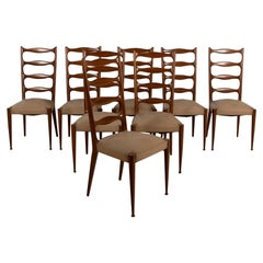 Eight Dining Chairs by Paola Buffa