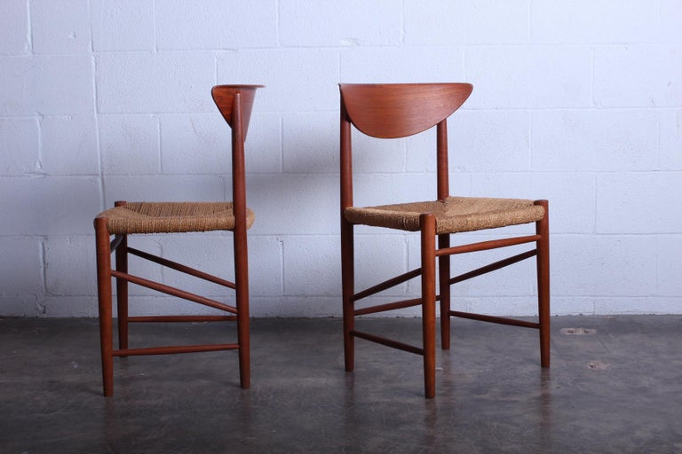 Eight Dining Chairs by Peter Hvidt and Orla Mølgaard Nielsen For Sale 6