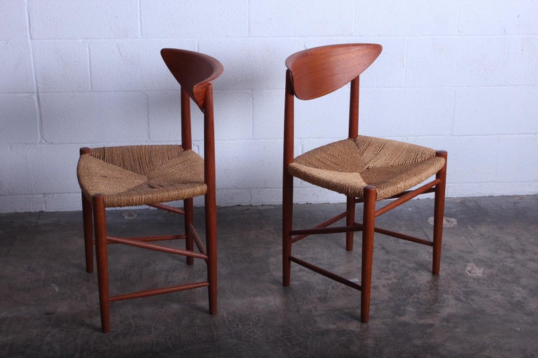 Eight Dining Chairs by Peter Hvidt and Orla Mølgaard Nielsen For Sale 7