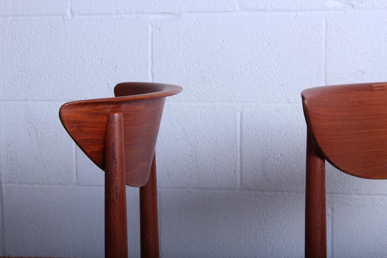 Eight Dining Chairs by Peter Hvidt and Orla Mølgaard Nielsen For Sale 10