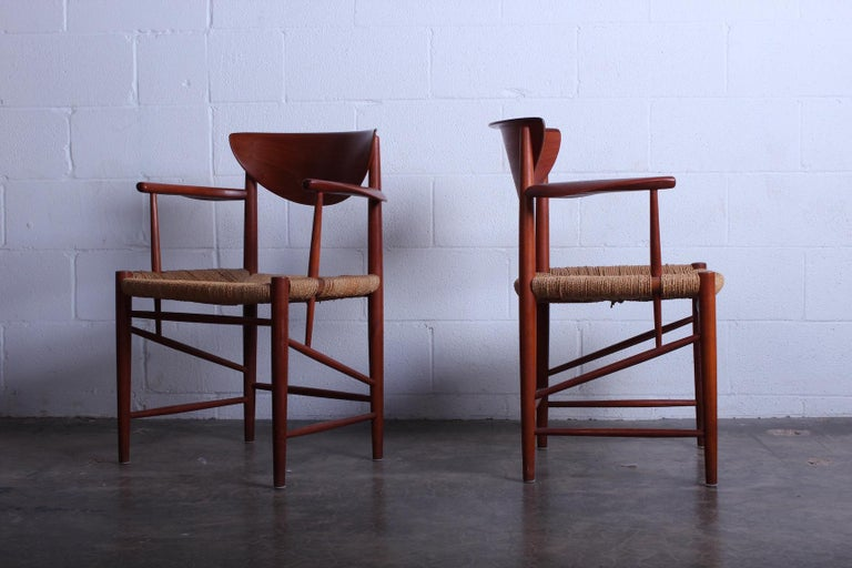 Eight Dining Chairs by Peter Hvidt and Orla Mølgaard Nielsen In Good Condition For Sale In Dallas, TX