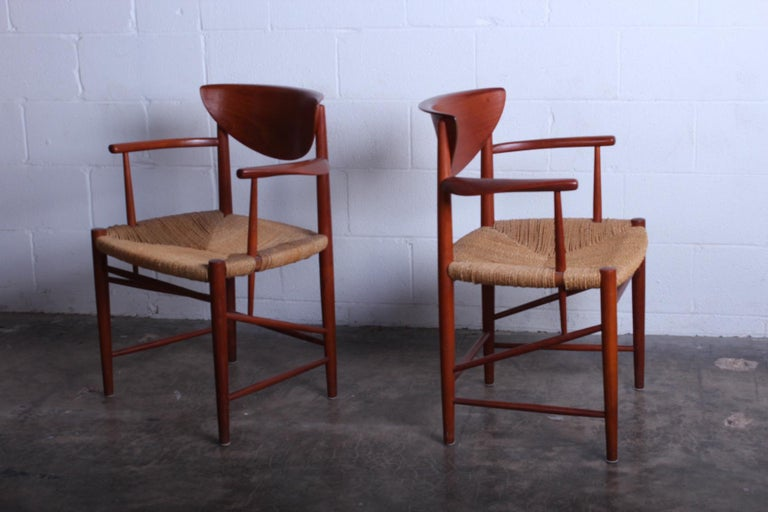 Mid-20th Century Eight Dining Chairs by Peter Hvidt and Orla Mølgaard Nielsen For Sale