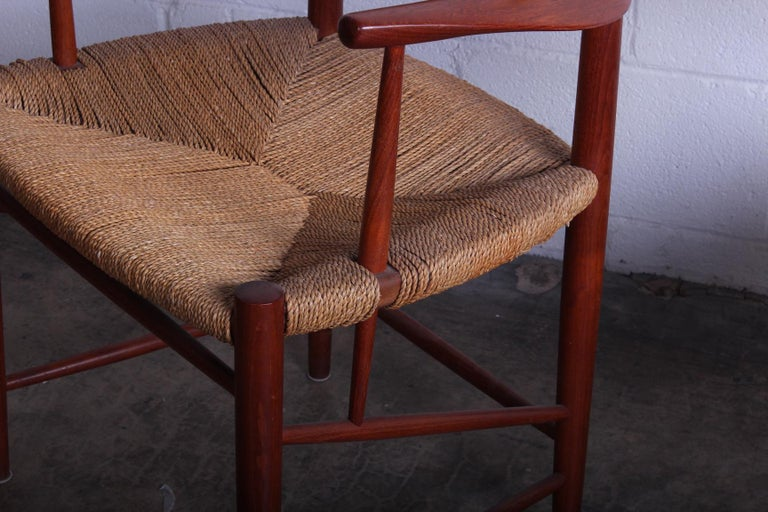 Eight Dining Chairs by Peter Hvidt and Orla Mølgaard Nielsen For Sale 1