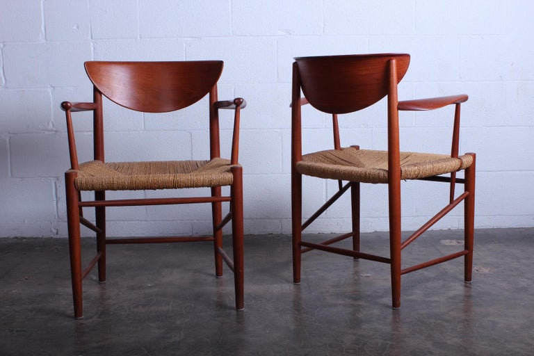 Eight Dining Chairs by Peter Hvidt and Orla Mølgaard Nielsen For Sale 4