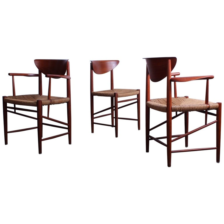 Eight Dining Chairs by Peter Hvidt and Orla Mølgaard Nielsen For Sale