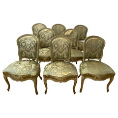 Eight Early 20th Century French Side Chairs for Restoration 'French & Co., NYC'