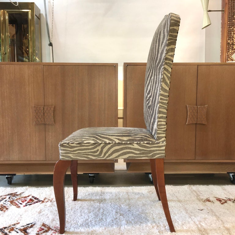 Eight French 1940s Dining Chairs For Sale 5