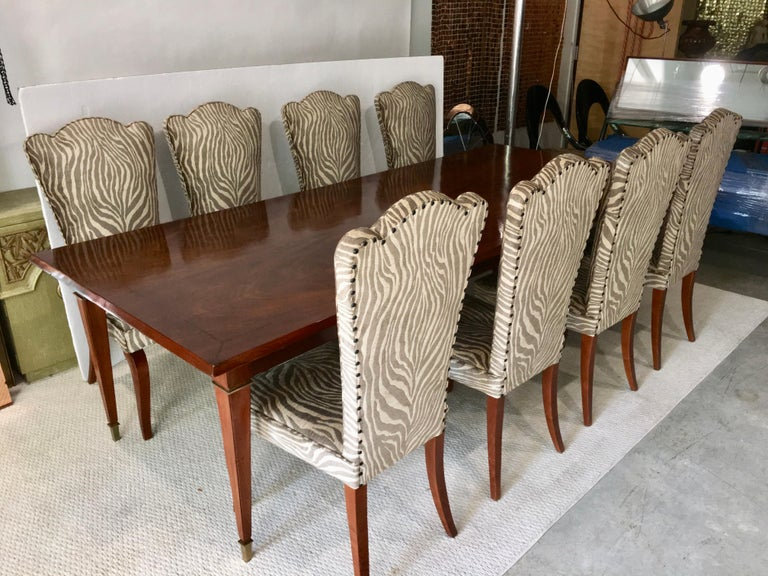 Eight French 1940s Dining Chairs For Sale 10