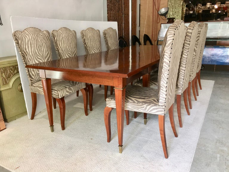 Eight French 1940s Dining Chairs For Sale 11