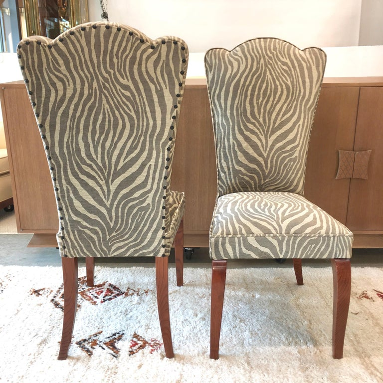 Art Deco Eight French 1940s Dining Chairs For Sale