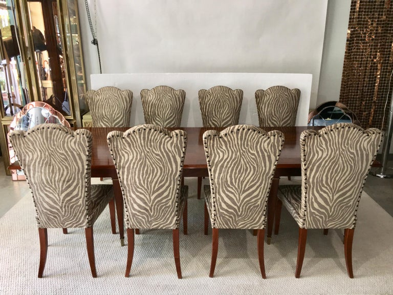 Eight French 1940s Dining Chairs In Good Condition For Sale In Hingham, MA